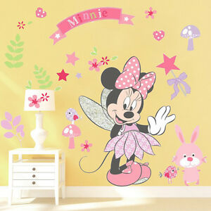 Image Is Loading Lovely Minnie Mouse Wall Stickers Vinyl Decals Girls