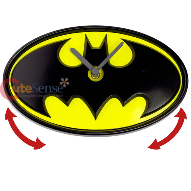 4067cb04d1c6 DC Comics Batman Logo Wobble Clock Wall Clock Moving Watch
