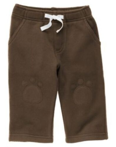 GYMBOREE STYLISH PUPPY BROWN KNEE PATCH KNIT PANTS 6 12 12 18 24 NWT