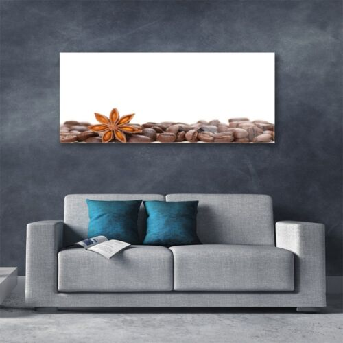 Tulup Print on Glass Wall art 125x50 Picture Image Coffee Beans Kitchen