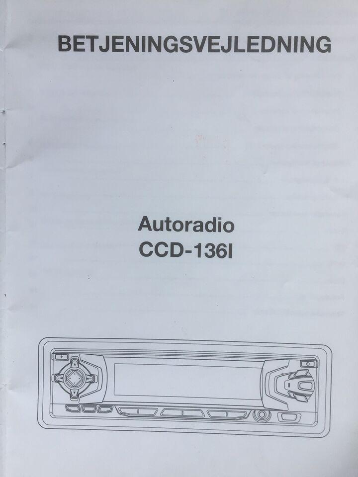andet mærke INNO - CCD-136I - BetjeningsvejIedning ,