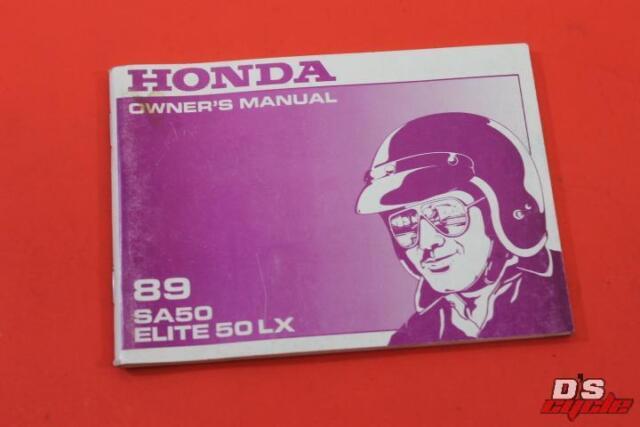 1989 Honda Sa50 Elite 50 Lx Scooter Owners Manual
