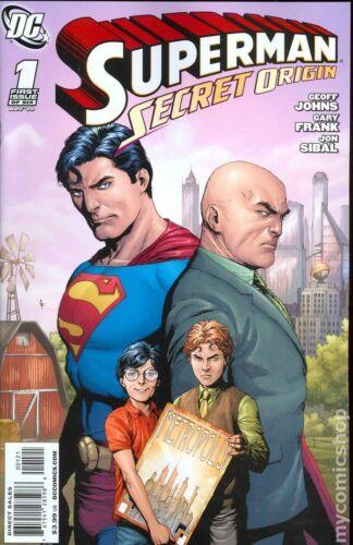Superman Secret Origin 1B Frank 1:10 Variant VF 2009 Stock Image