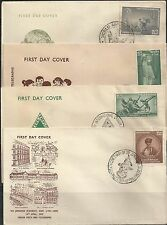 1959  India FDCs complete year set  first day covers FDC