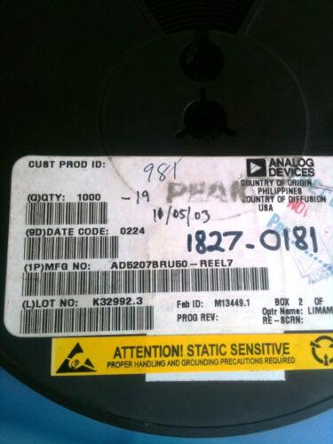 AD5207BRU50 ANALOG DEVICE IC DGTL POT DUAL 256POS 14 PIN TSSOP