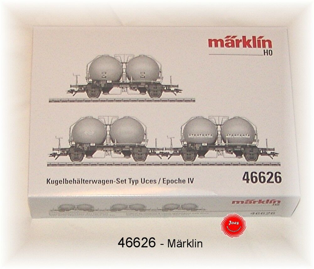 Märklin 46626 Kugelbehälterwagenset Uces di NS 3 Pezzi # Nuovo in Confezione #