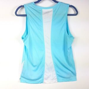 b7c4570a Champion Womens Light Blue Athletic Tank Top Med White Breathable ...