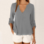 thumbnail 14 - Fashion-Women-039-s-Ladies-Summer-Loose-Chiffon-Tops-Long-Sleeve-Shirt-Casual-Blouse