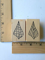 Rare - Outlines Rubber Stamps (2) -shells -new
