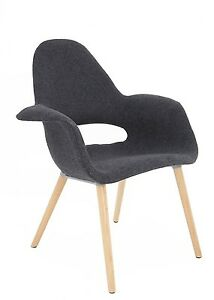 SILLÓN TOWER WOOD TAPIZADO GRIS ESTILO NORDICO IDEAL PARA SALON ...