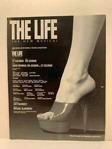 """Pre-Opening B&W 8.5""""x11"""" Flyer for Cy Coleman's """"The Life"""""""