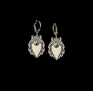 Norweigan-Forest-Cat-Earrings-Fashion-Jewellery-Gold-Plated-Leverback-Hook