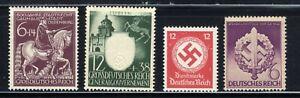 1940-45-Germany-Nazi-4-STAMP-SET-Third-Reich-Swastika-Deutsch-MNH-OG