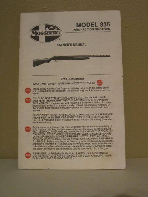 mossberg model 835 pump action shotgun owners manual ebay rh ebay com mossberg 835 owners manual mossberg 835 owners manual
