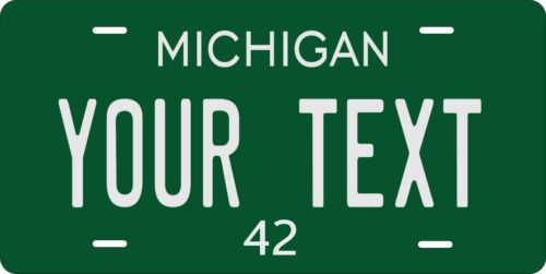Michigan 1942 License Plate Personalized Custom Auto Bike Motorcycle Moped Tag