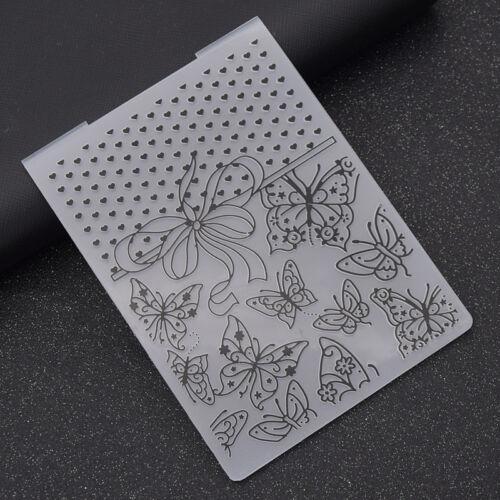 Plastic Embossing Folder Template DIY Scrapbook Album Paper Card Craft Making