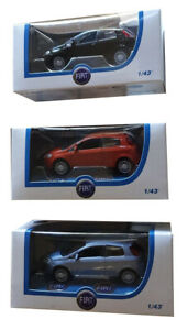 Fiat-Punto-model-car-with-open-windows-in-different-colors-Collective-figure-NEW