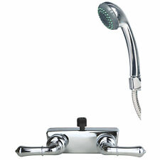 RV Bathroom Faucet and Tub Shower Valve with Hand Shower Combo Chrome