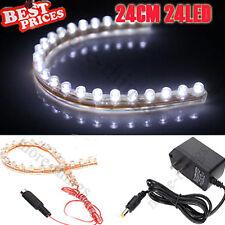 Bianco 24CM LED Neon ACQUARIO Lamp Striscia +adattatore Di Alimentazione