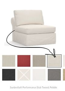 Details About Pottery Barn U201cSLIPCOVERu201d For PB Build Your Own Air Roll  Armless Chair Piece NEW
