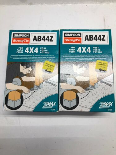 Simpson Strong-Tie AB44Z 4x4 Post Bracket Lot Of 2