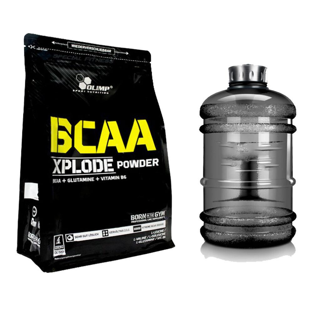 Olimp + BCAA Xplode Aminosäuren 1000g Beutel + Olimp BONUS WATER GALLON b20938