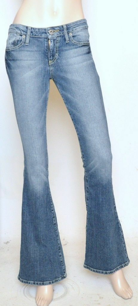 Nwt GUESS Flare Leg Slim Fit Mid Rise Stretch Jeans Denim Pant Ambush Wash 26