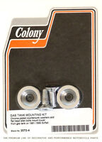 Harley 91-99 Softail Custom Countersunk Gas Tank Mount Kit Chrome Colony 2072-4