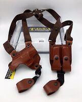 Kel-tec .380 Tagua Full Slide Shoulder Holster Brown Leather Rh Sh4-012 Kel Tec