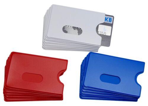 6x EC Kartenhülle Weiß Blau Rot STABIL Scheckkartenhülle Kreditkartenbox Bank