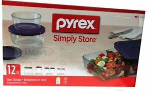 Elegant Image Is Loading 12 PC Pyrex Glass Food Storage Container Set