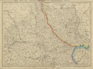 Battle-Fields-of-Northern-Italy-2nd-War-of-Independence-1859-DOWER-c1859-map
