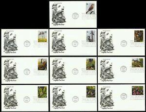 #3611a-3611j 34c Longleaf Pin Forest, Art Artisanat Premier Jour Any 4 =