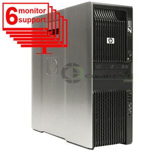 HP-Trading-6-Monitor-PC-Z600-Computer-2x-Intel-E5506-2-13Ghz-8GB-250GB-Win10