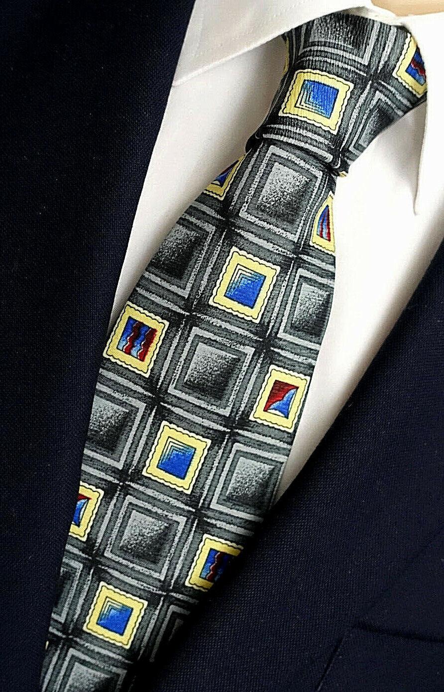 NEU - Jassine Herren Anlass / Business Krawatte - Kachelmuster - Retro-Look TOP