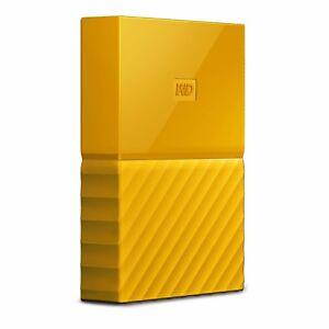 Hard-Disk-Esterno-Western-Digital-My-Passport-Yellow-WDBYFT0020BYL-USB-3-0-2TB