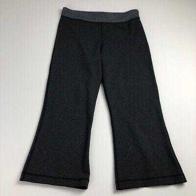 lululemon women's 6 cropped yoga pants leggings gray open