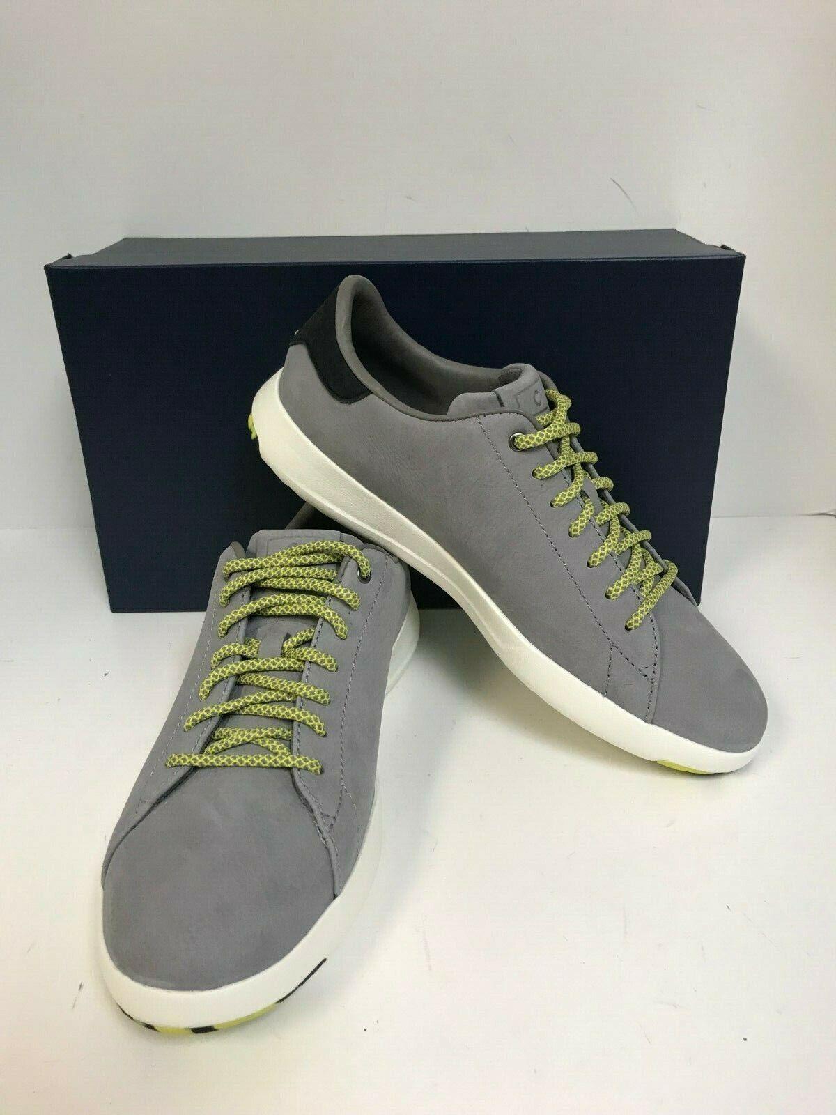 Cole Haan Men's Grandpro Tennis C28699 Ironstone Nubuck Laceup Casual Sneakers