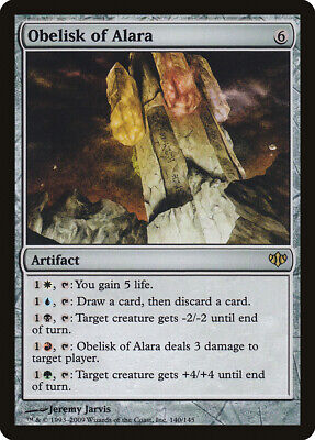 Obelisk of Alara Conflux HEAVILY PLD Artifact Rare MAGIC GATHERING CARD ABUGames