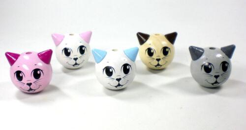 Schnullerkette mit Namen Omas Liebling Katze Baby Schnullerhalter Mädchen rosa
