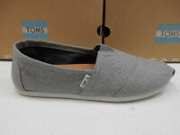 Toms Mens Shoes Classic Grey White Woven Size 12