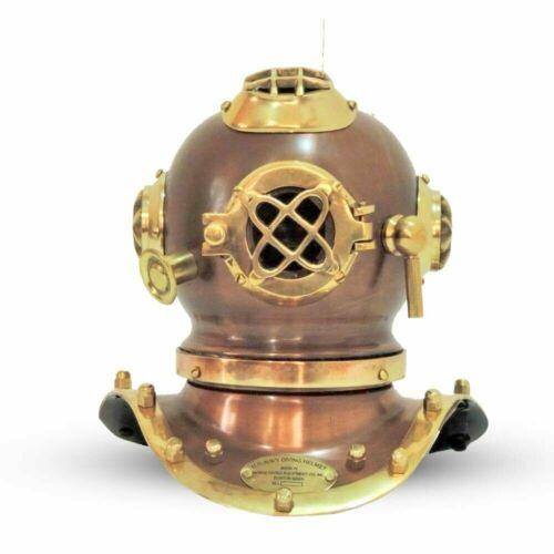 Details about  /Vintage U.S Navy Marine Brass Iron Mini Diving Divers Helmet Scuba Helmet 7 Inch