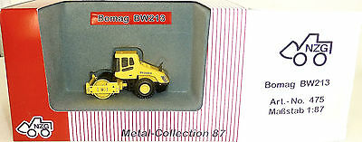 Bomag Bw213 D-3 Road Roller Yellow Nzg 475 Metal Collection H0 1:87 Ovp Hi6 µ Perfect In Workmanship Automotive Model Building