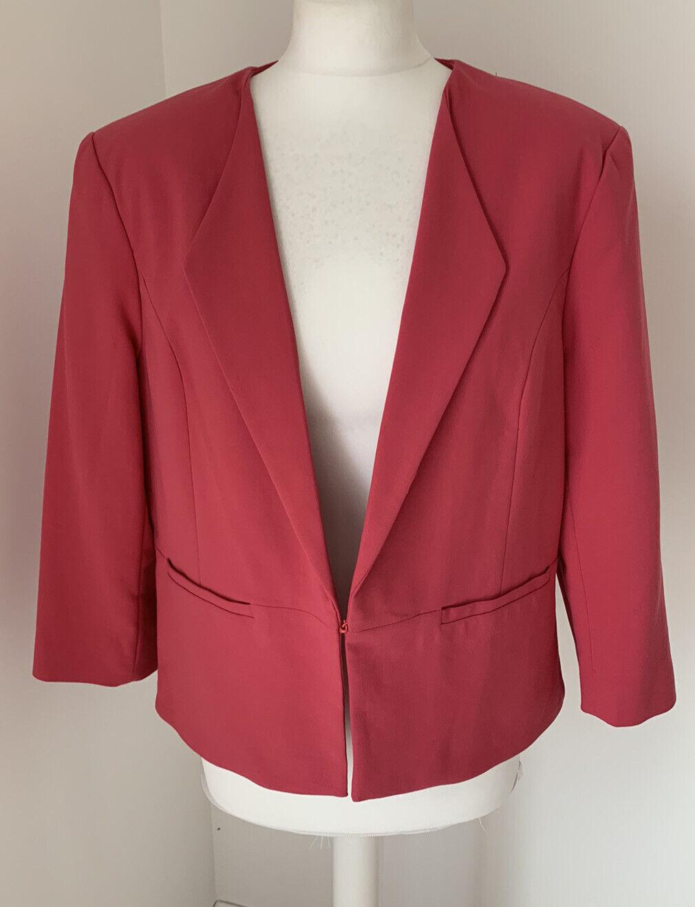 Brand New Phase Eight Dark Pink Alba Wedding Occasion Jacket UK 18