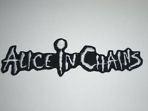 ALICE IN CHAINS IRON ON EMBROIDERED PATCH