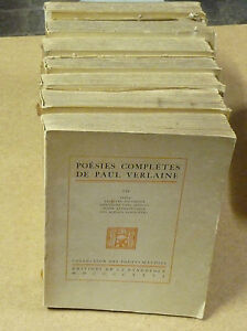Poesies-Completes-P-Verlaine-1923-a-26-TOMES-de-1-2-a-7-TRES-BON-ETAT
