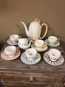 Royal-Stafford-Bone-China-Starlite-Coffee-Set-Merlin-Ware-England