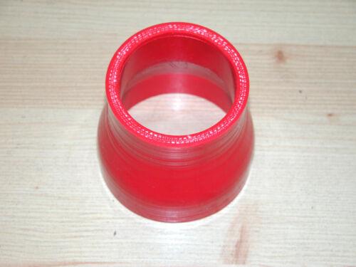 """57 mm Übergang 3/"""" auf 2,25/"""" LLK Turbo Silikonschlauch Rot *NEU* Reduzierung 76"""