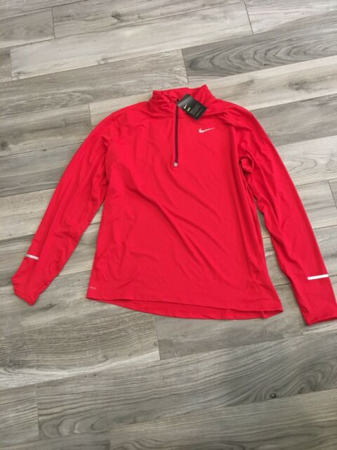 Nike Men/'s Size Medium Dri Fit Element 1//2 Zip Running Top Shirt 904946 657 NWT