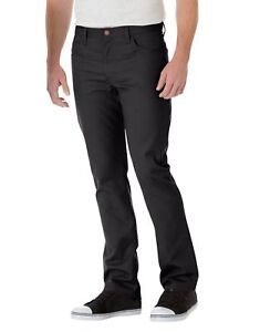 Nuevo-Para-Hombre-Negro-Peviani-Delgado-Calce-Recto-Regular-Pantalones-Informales-Chino-Pantalones